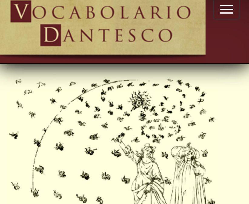 Vocabolario Dantesco, un site indispensable